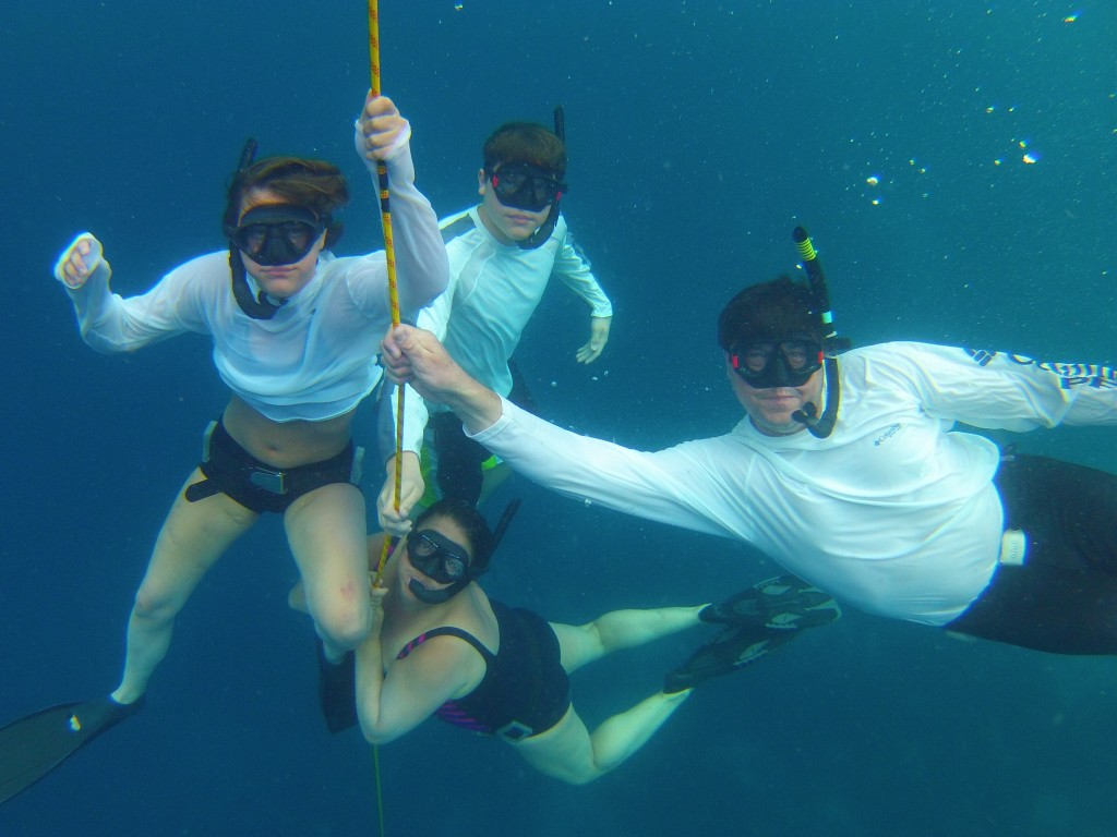 Image: The Ulrich-Verderbers' first day of freediving with the legendary Carlos Coste
