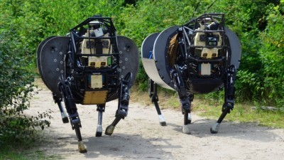 Image: Two of DARPA's robotic dogs