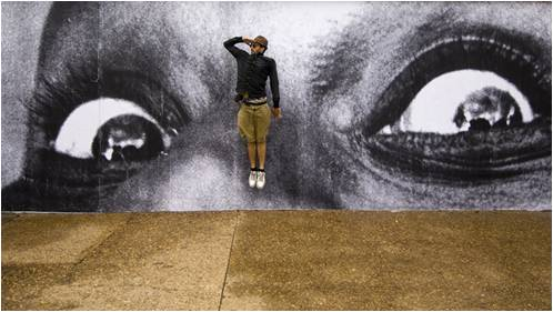 Image: JR's street art
