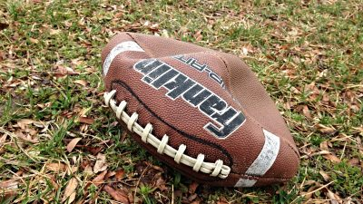 Image: A deflated football