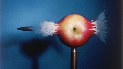 Image: Bullet passing through an apple