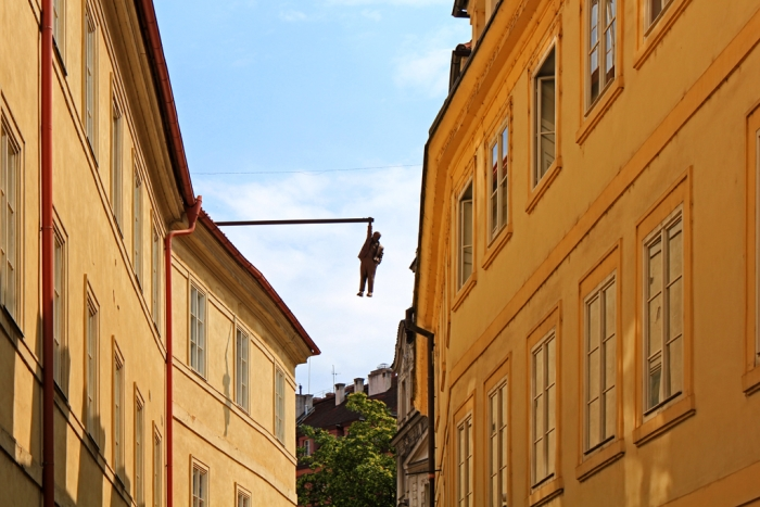 Image: Man Hanging Out, Prague, Czech Republic