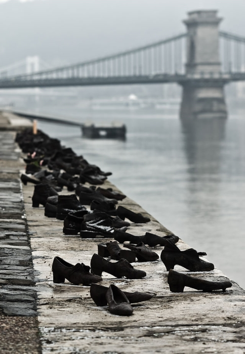 Image: The hundreds of pairs of Shoes scattered On The Danube Bank by Can Togay & Gyula Pauer, Budapest, Hungary, creating meaningful sculptures