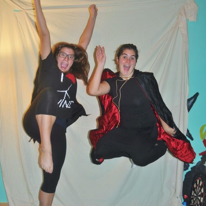 Image: Two ladies floating