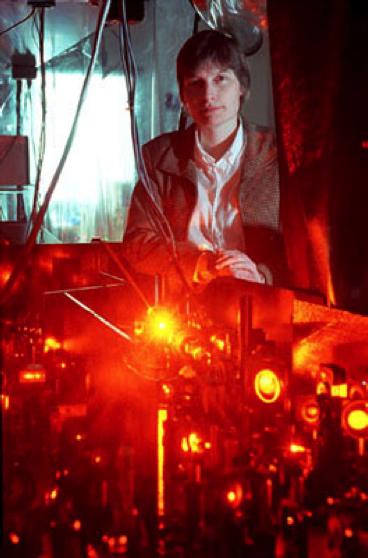 Image: Harvard University professor Lene Vestergaard Hau stopping light
