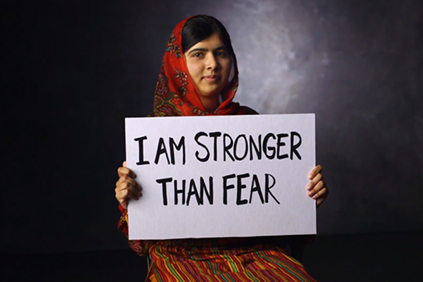 Image: Malala stronger than fear