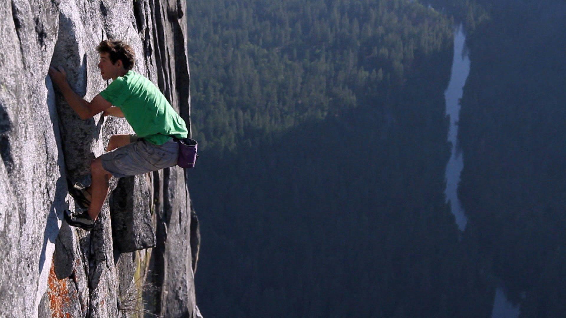 Image: Alex Honnold climbing
