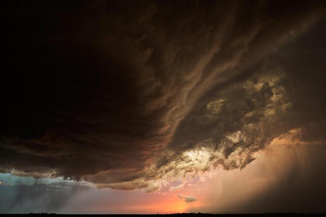 Image: Peach Storm Clouds