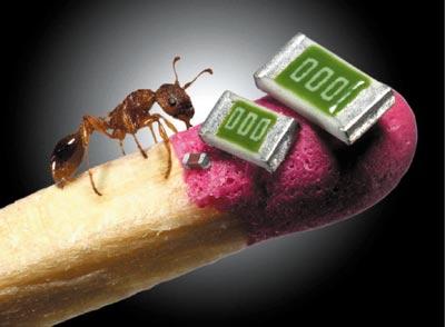 Image: Nano tech and an ant on a match stick