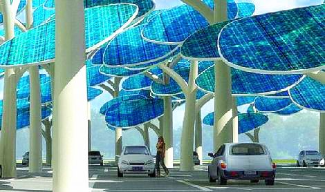 Image: Solar panels disguised as trees