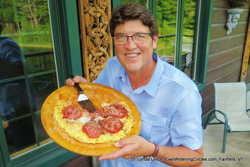 Image: Dr. Chuck with his homemade omelette