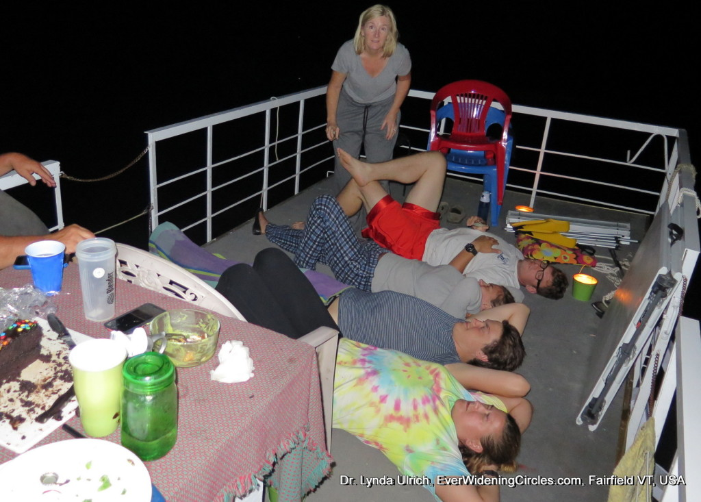 Image: chuck and family fun star gazing
