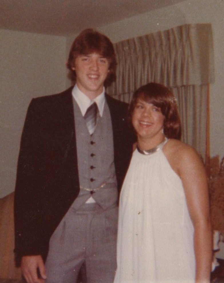 Image: Dr. Chuck and Dr. Lynda age 17 Prom picture.