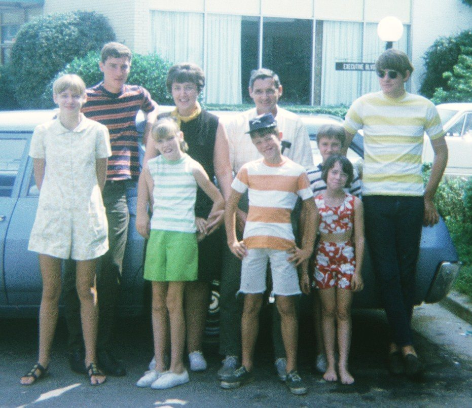 Image: Dr. Chuck and his family in 1970