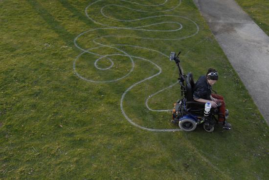 Image: Sue Austin Free Wheeling on grass