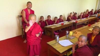 monk waving