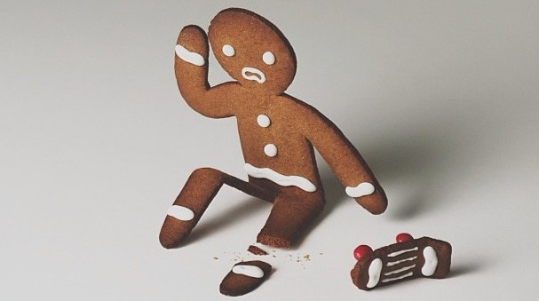 Image: Gingerbread Skateboarder, Brock Davis Photography