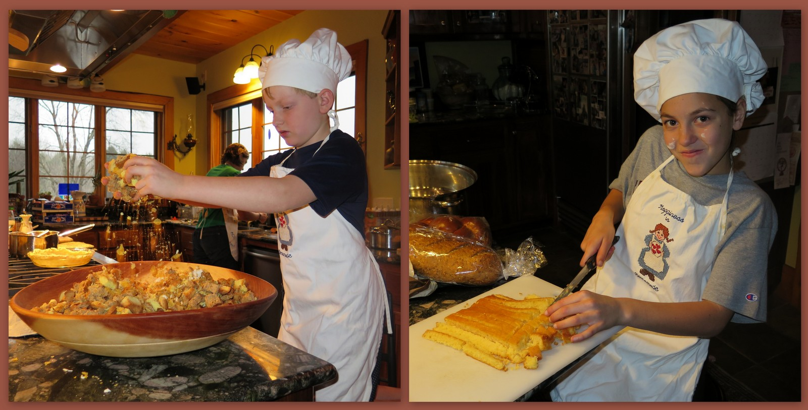 Image: Kids cooking Thanksgiving recipes