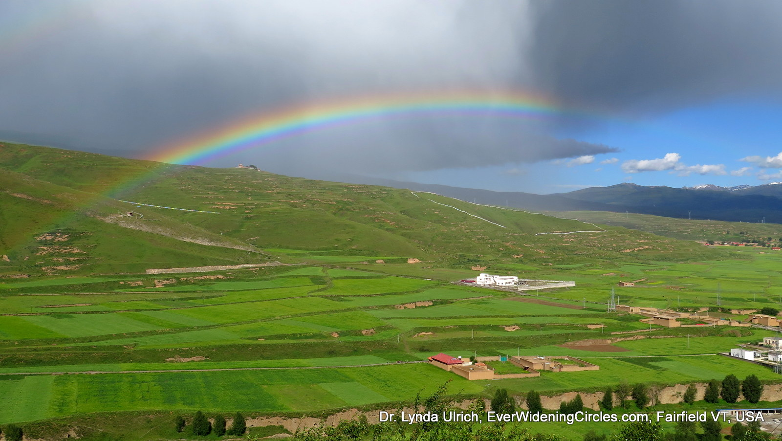 Image: thankful for the rainbow that appeared in Tibet