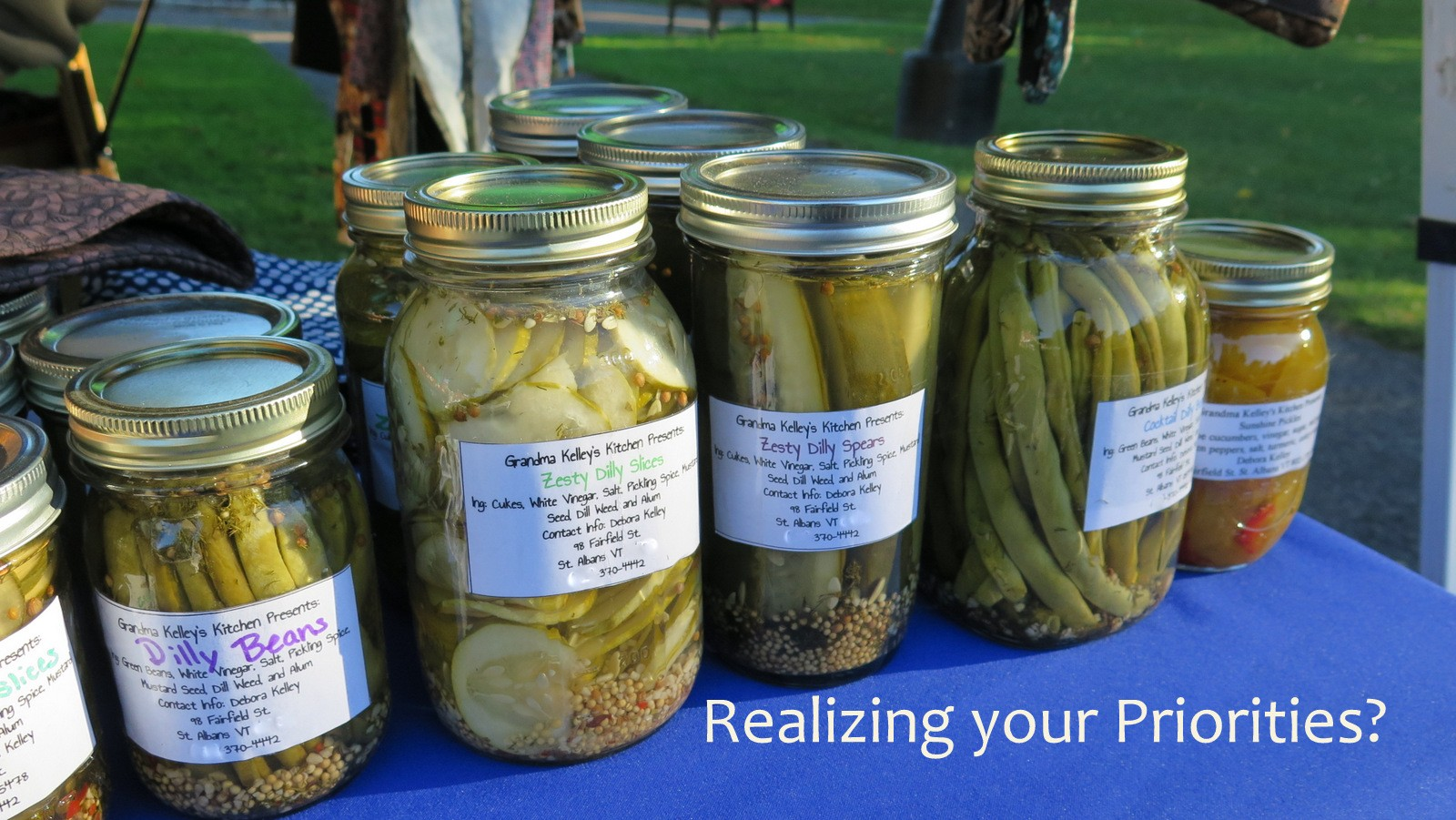 Image: Pickle jars for finding your priorities