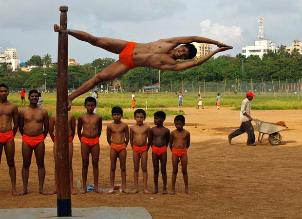Indian Pole Gymnastics