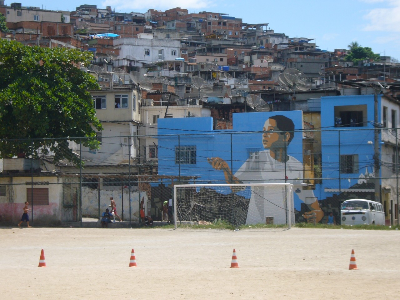 The first favela painting