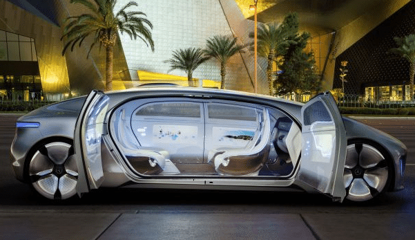Image: self-driving car doors open