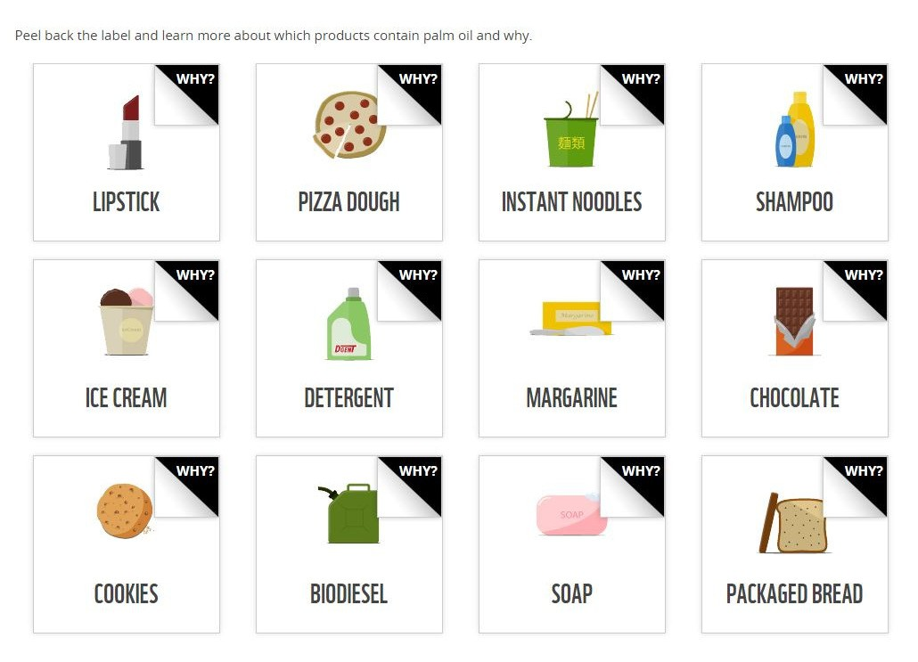 Image: Many classes of Palm oil products