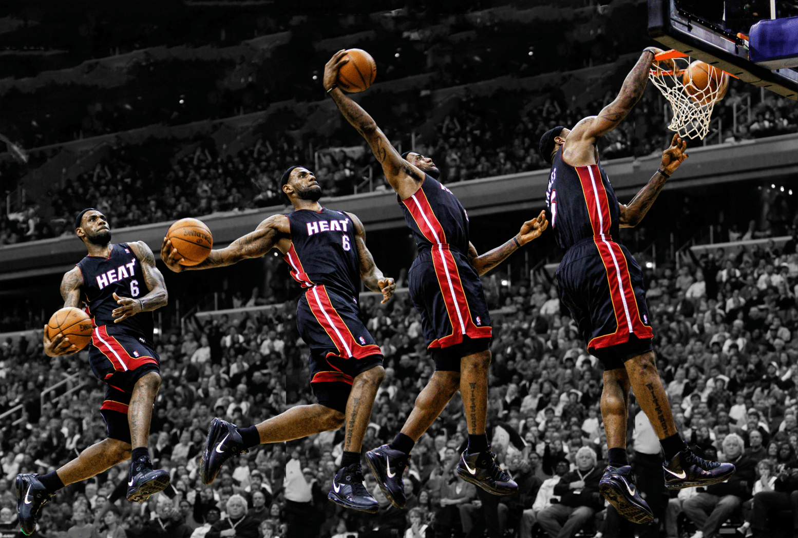 Lebron James Dunk: The beauty and balance of the game