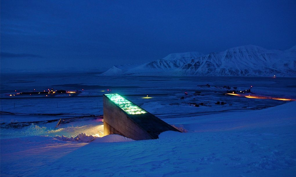 Image: The doomsday seed vault at night