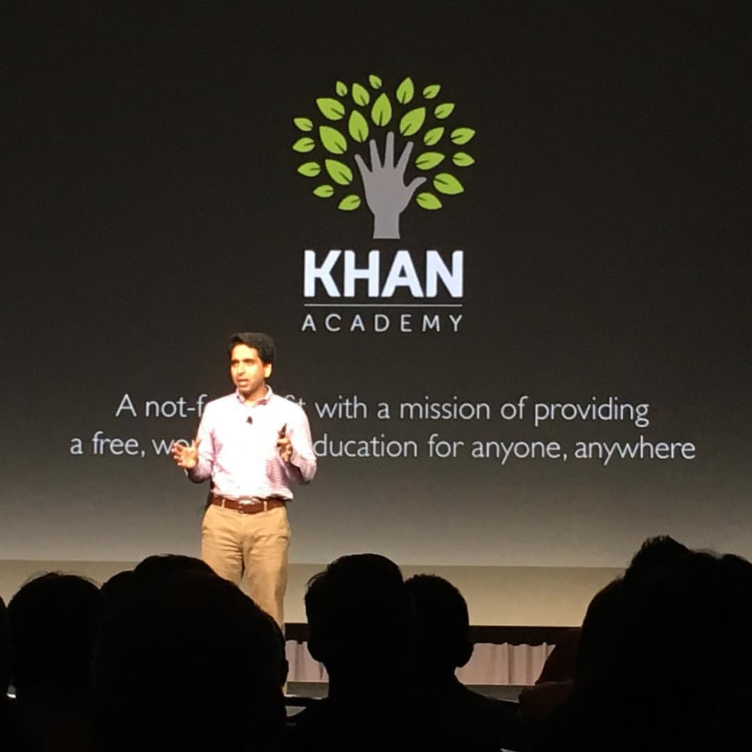Image: Khan Academy founder Sal Khan speaking at Relitivity Fest 2015
