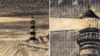 type writer artist paul smith lighthouse