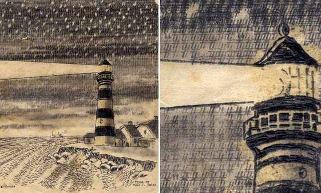 Image: Typewriter artist Paul Smith, Lighthouse