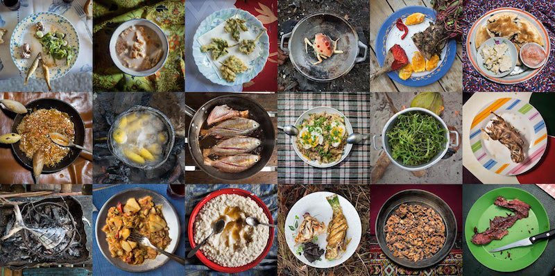 Image: Photos of different dishes from Matthieu Paley and National Geographic We Are What We Eat