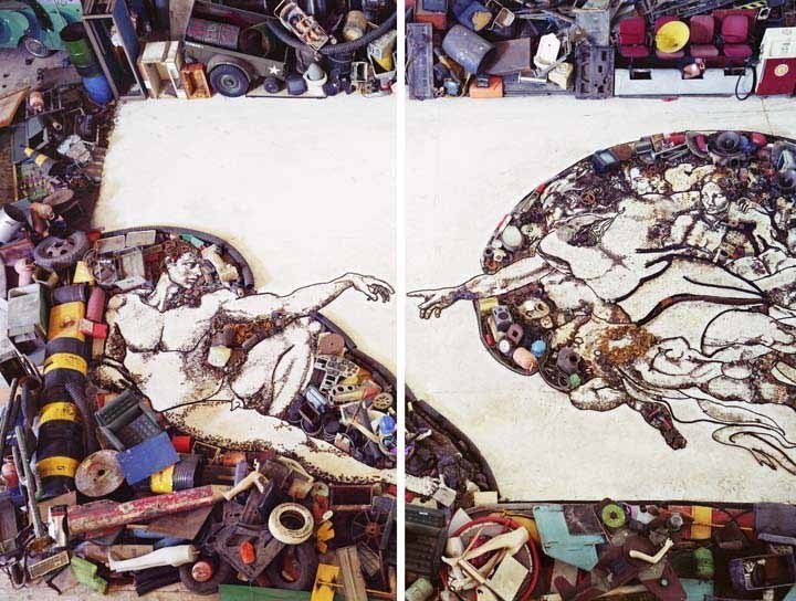 Image: Michelangelo's Creation of Adam Painting