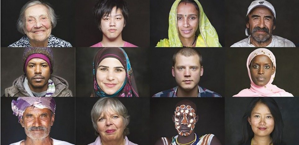 Image: Portraits from HUMAN-the movie, exploring our human connection