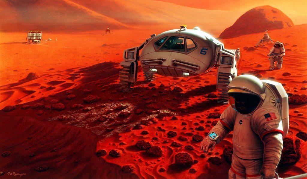 Image: An illustration of what a Mars Exploration Simulation could look like