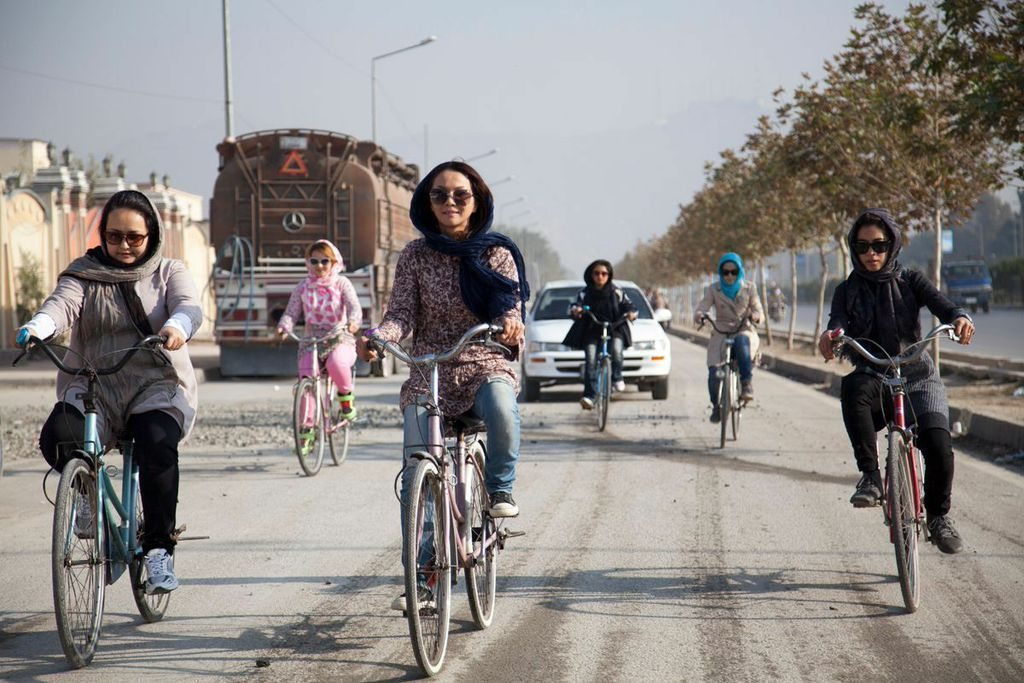 women-bicycling