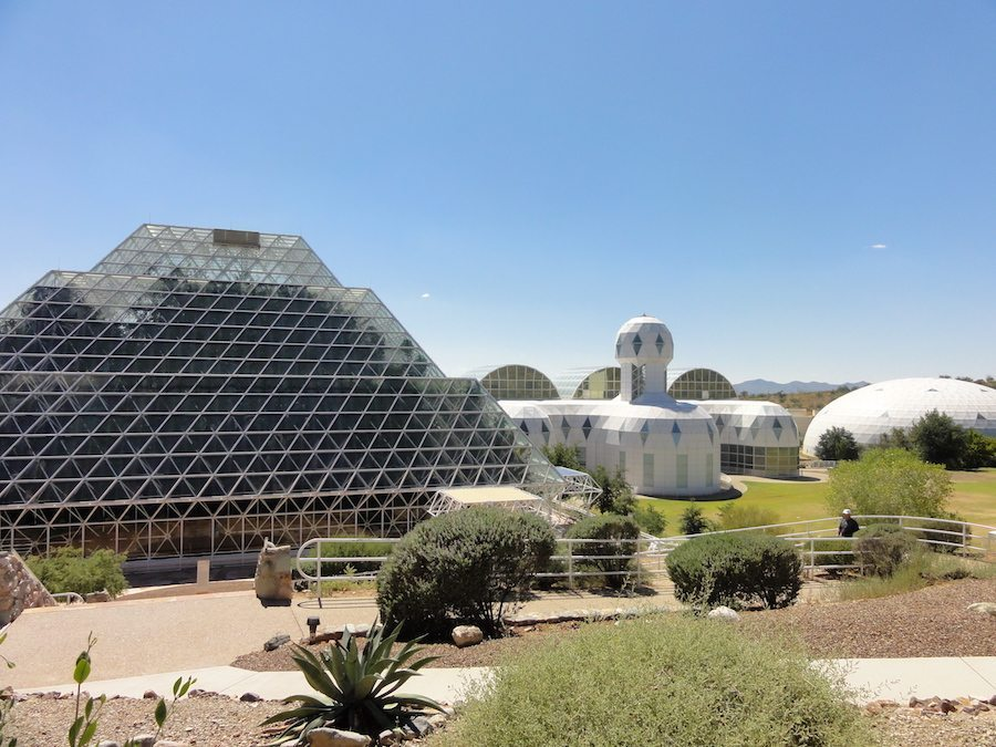 Image: Biosphere 2 complex located in the Arizona Desert