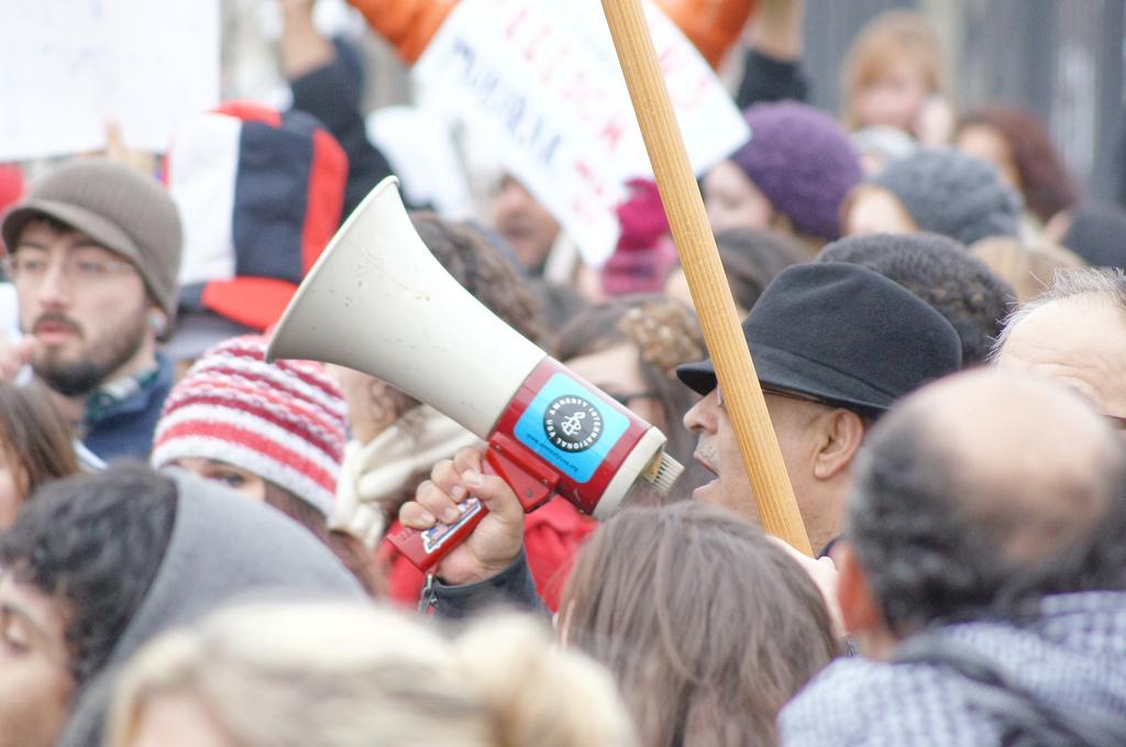 Image: Protest at Egyptian Embassy, Washington, DC