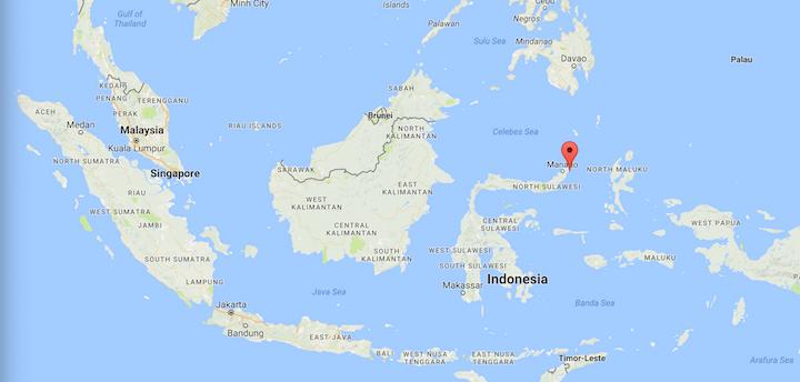 Image: Map of Lembeh Strait