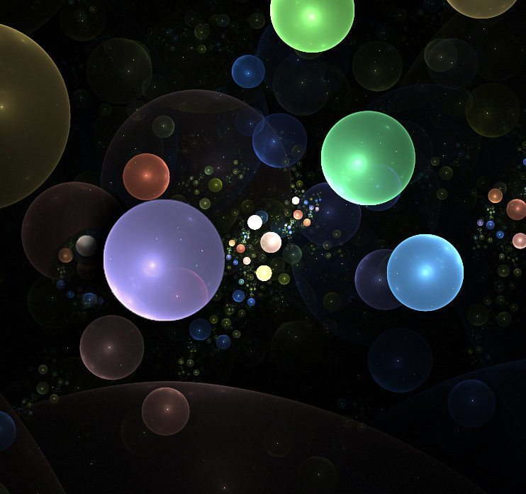 Image: colored bubbles from fractals