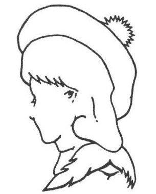 Image: Optical illusion line drawing