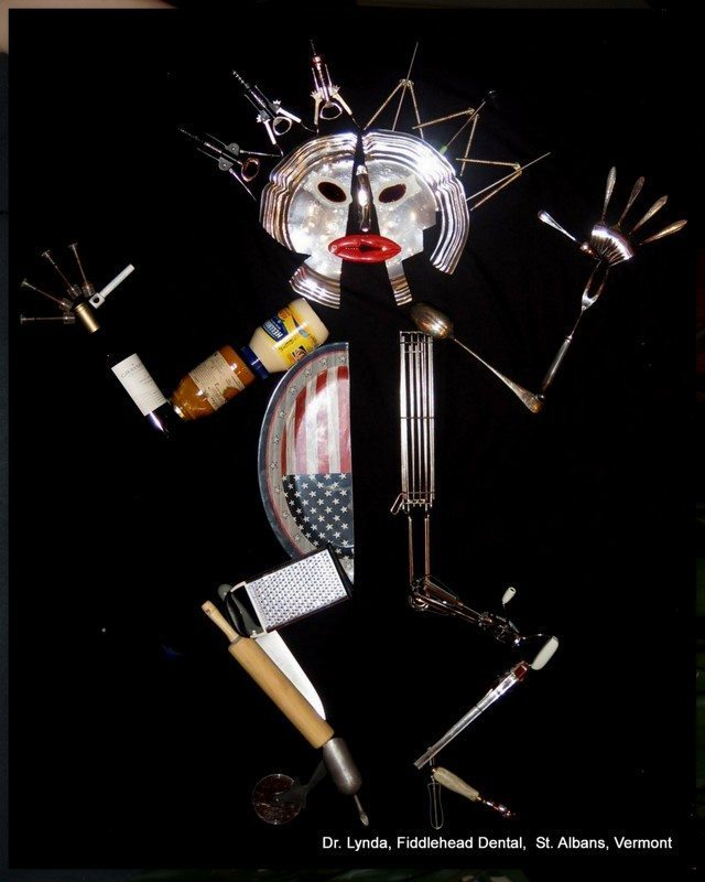 Image: Making the Extraordinary look Easy: A sculpture of a woman made of kitchen supplies