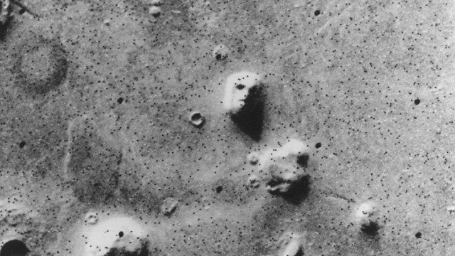 Image: one of the images of faces on Mars