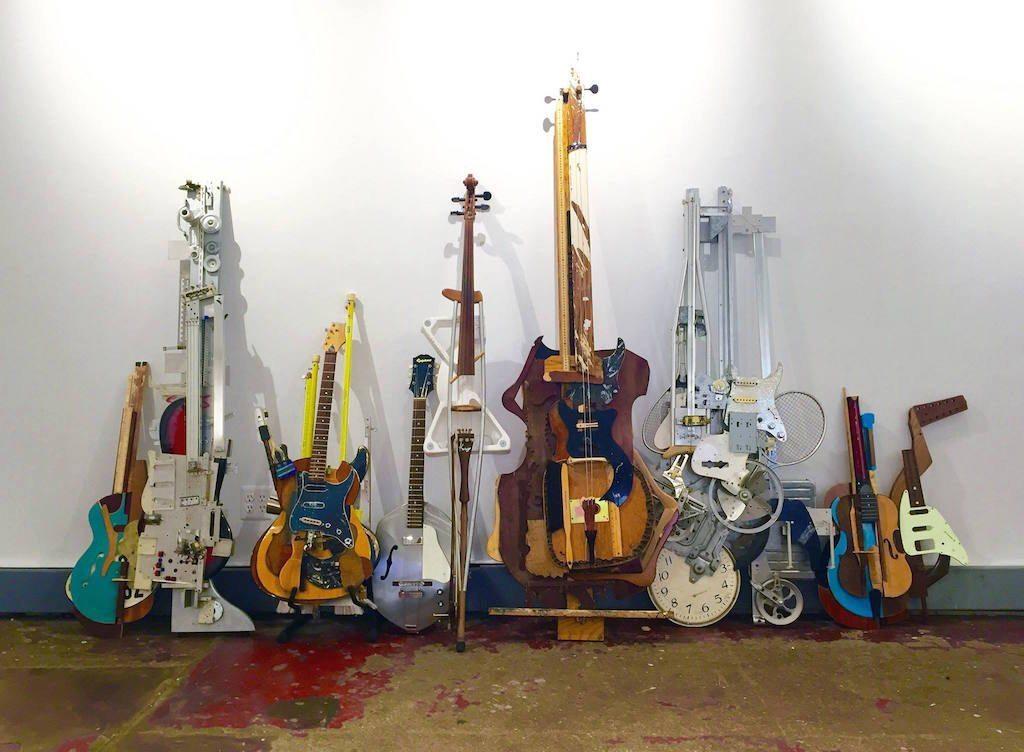 Image: Ken Butler's work turning trash into musical instruments