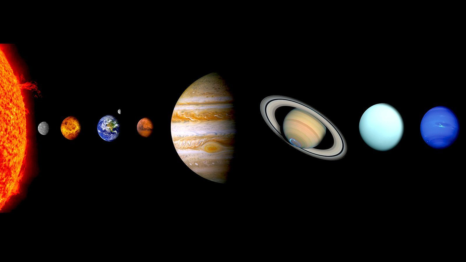 Not a true to scale representation of the space between planets in our solar system.