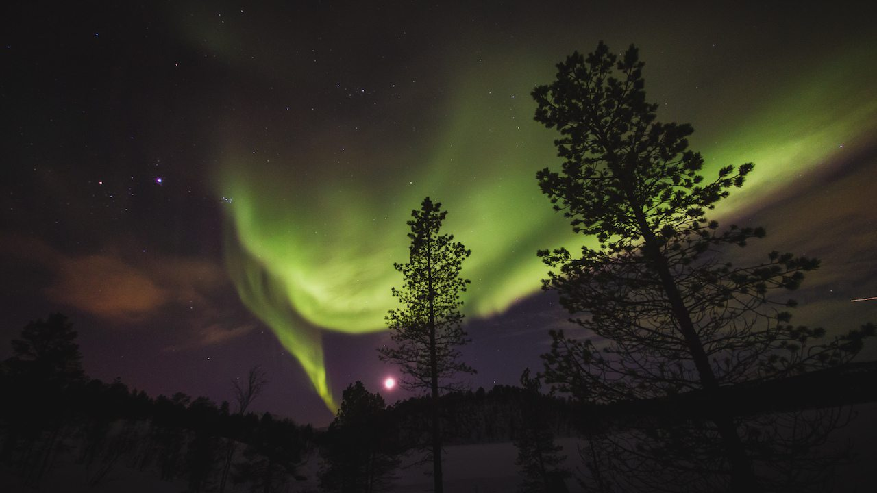 Image: Northern lights in the seasons of norway