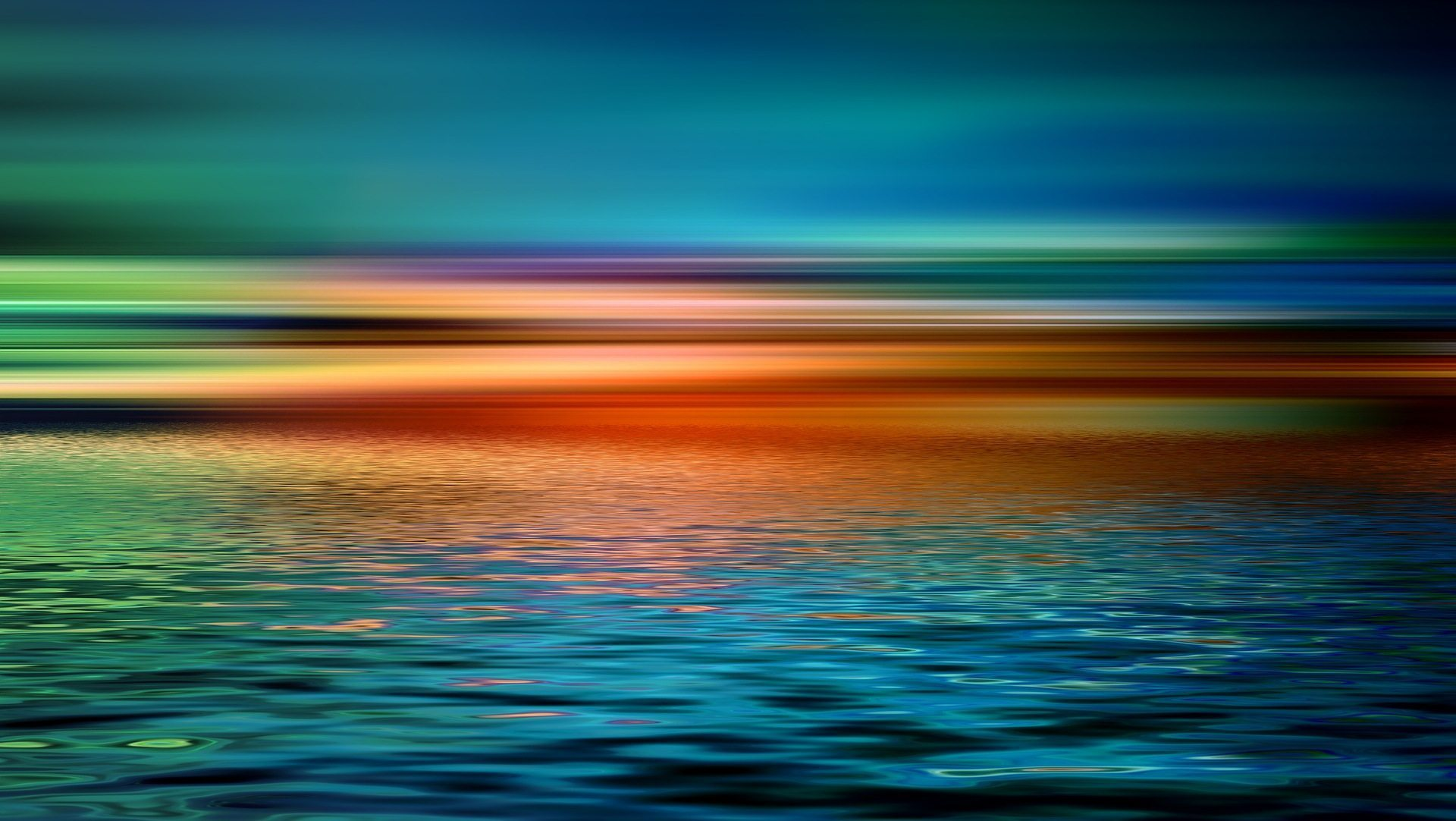 Image: Horizon over a still ocean