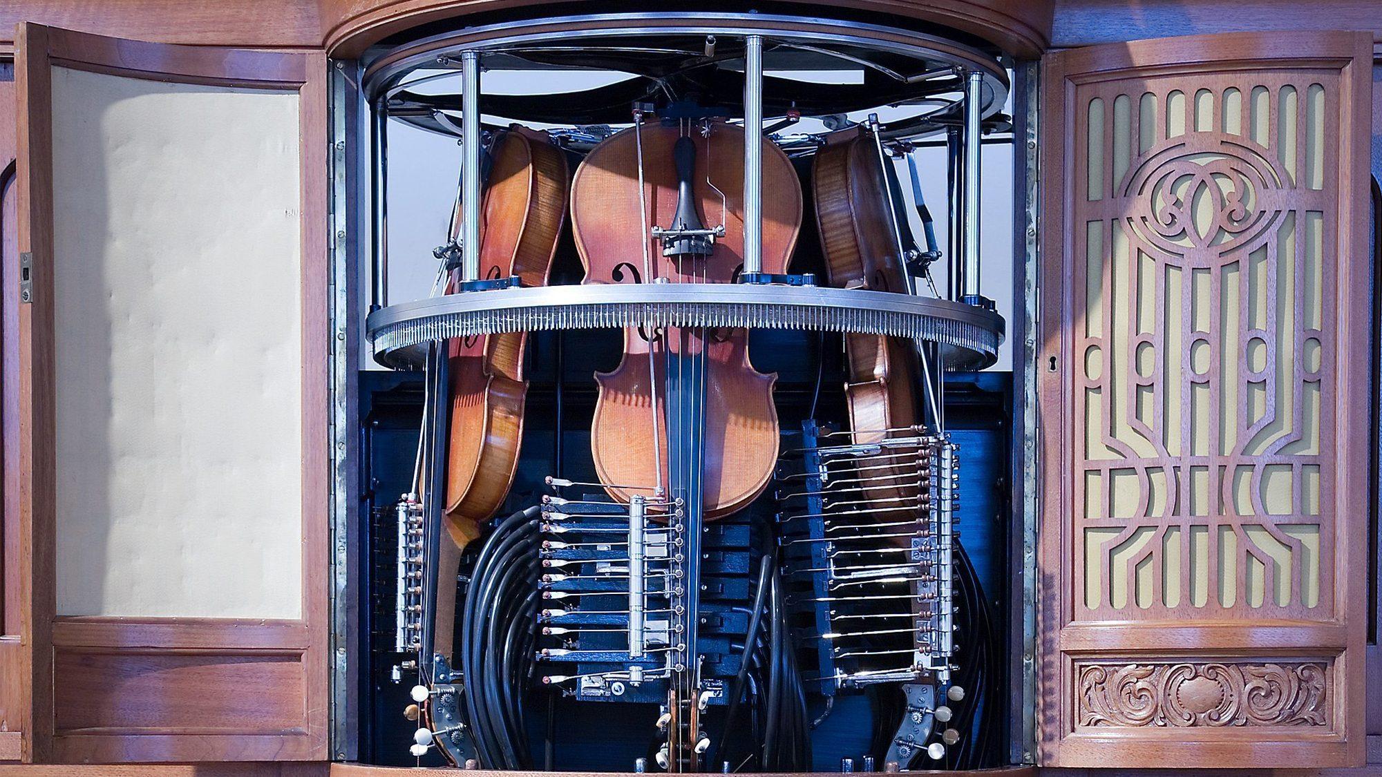 Image: the Hupfeld Phonoliszt Violina, the 100-year-old self-playing violin